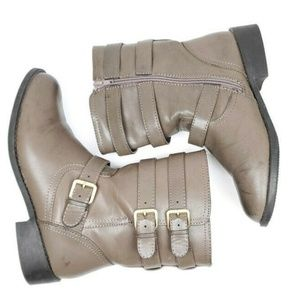Lane Bryant Size 8W Moto Boot Taupe Mid Calf